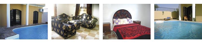 Nile Dreams til leje i Egypten: 3 lejligheder, fantastisk beliggenhed, med swimming pool og tagterrasse.